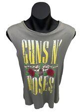 Guns N Roses 2013 Tank Top See Singlet Grey Size M Tag Black Frog