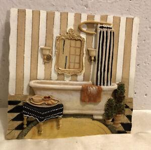 C. Winterle Olson 3D Bathroom Tile Plaque Wall Art, Bathtub, Dressing Room Tile