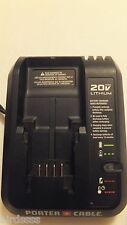 PORTER CABLE PCC691L 20V 20 VOLT MAX LITHIUM-ION BATTERY CHARGER