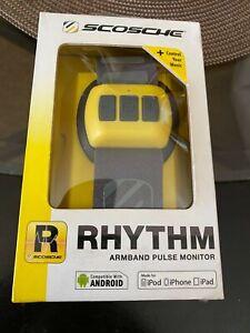 Used scosche rhythm armband pulse monitor-yellow