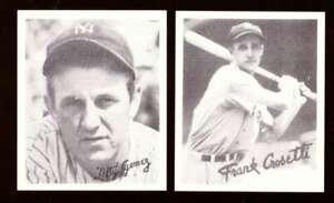 1936 Goudey Black and White Reprints - NEW YORK YANKEES Team Set