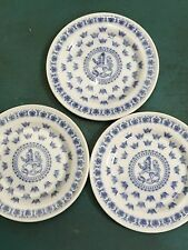 """Lot of 3 SVEA RORSTRAND BLUE LION BUTTER PAT COASTER SMALL PLATE SWEDEN 3"""" Each"""