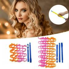 New 12Pcs 30CM/50CM Hair Curler Wavy Hair Styling Kit Curling Iron Wave Hair UK