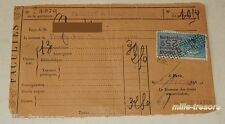RECU de 1924 FACULTE de DROIT de PARIS + TIMBRE Fiscal de 0.25 c RECUS D'OBJETS