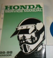 1986 -1998 HONDA XR200R SERVICE SHOP REPAIR MANUAL