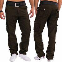 Hommes Loose Fit Denim Cargo travailleurs Pantalons Pantalon 100% coton robuste