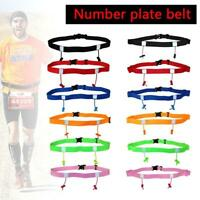 Sport Triathlon Marathon Running Race Number Waist Bib Belt Fitness