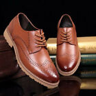 New Men's Dress Formal Oxfords Casual Leather Lace Up Business Shoes Brogues