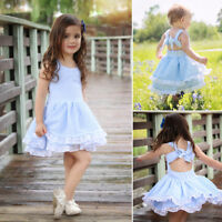 Flower Girl Summer Princess Dress Kid Baby Party Wedding Pageant Dresses Clothes