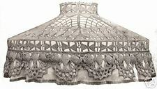 Vintage Antique Crochet PATTERN to make Lampshade Cover Victorian 1900s Mushroom