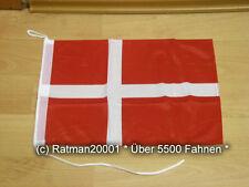 Fahnen Flagge Dänemark Bootsfahne Tischwimpel Biker - 30 x 45 cm