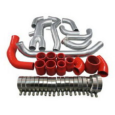 New Intercooler Piping Kit For Mitsubishi 3000GT VR-4 Dodge Stealth TT Red Hose