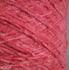 4 PLY CHENILLE YARN 500g 10 BALLS CERISE FUCHSIA PINK HAND MACHINE KNITTING NEW