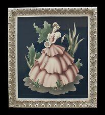 1950'S Turner Victorian Lady Southern Belle 18X16 Print in Original Ornate Frame