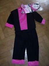 HALLOWEEN- M/C CATSUIT OUTFIT WITH EYE MASK-NEW WITHOUT TAGS-AGE 4-5yr