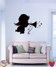 Wall Stickers Vinyl Dakar Little Baby Angel Music Notes For Bedroom (z1671)