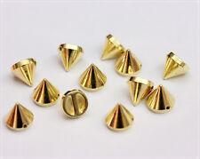 100pz Borchie sfuse cono da cucire colore ORO 1,2CM*100pcs  GOLD CONE STUDS