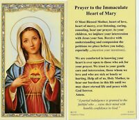 """~Holy Card~""""Prayer To The Immaculate Heart of Mary""""  *Prayer on Back (#17)"""