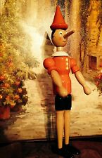 """Original Pinocchio Wooden Doll Collection, Florence, Italy, 14 1/2"""" Tall"""