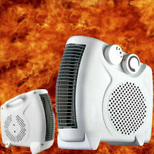 500W Portable Electric Heater Fan Timing Air Warmer 3 Speeds Desk Home Office