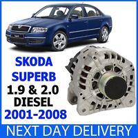 SKODA Superb I MK1 3U4 1.9 & 2.0 TDi 2001-2008 Diesel Complete 140amp ALTERNATOR
