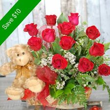 Fresh Flowers Delivery Sydney - Captivating -12 Premium Red Rose- Valentines Day