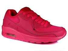 Womens Mens Running Air Trainers Shock Absorbing Fitness Gym Sports Shoes Size Fuschia UK 5 / EU 38