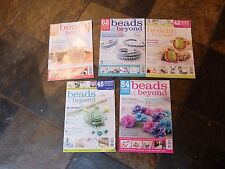 5 x back issues of 'Beads & beyond' magazine  2013