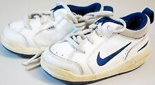 NIKE SNEAKERS SHOES TODDLER BABY BOYS SIZE 5C -  WHITE LEATHER STYLE 325045