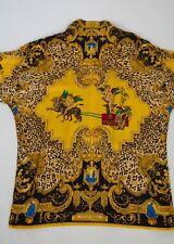 Gianni Versace Mens Silk Baroque Shirt Scarf Print sz48 US S