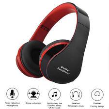 PIEGHEVOLE Wireless Stereo Auricolare Bluetooth Cuffie + microfono per iPhone Samsung PC