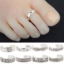 Vintage Silver Finger Foot Toe Ring Adjustable Boho Women Retro Chic Jewelry TSC