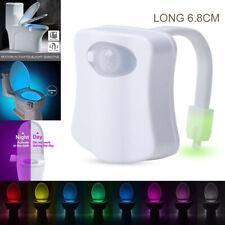 8 цветов унитаз ночник светодиодный активируемый движением сиденье датчик лампа для ванной