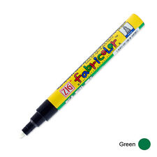 Zig Fabricolor Fabric Marker - 2mm - Green (Pack of 12)