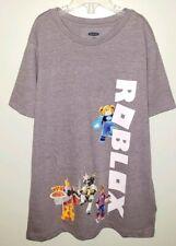 NEW Old Navy ROBLOX Unisex Boys Girls 8 MEDIUM Tee GRAY T-Shirt Pizza Place #OW9