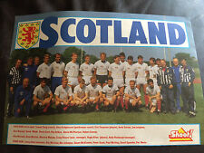 TEAM GROUP PHOTO POSTER / FOTO DEL EQUIPO - SCOTLAND circa 1988 ISSUED BY SHOOT