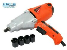 "HEAVY DUTY 1010W ELECTRIC 230V 1/2"" DR IMPACT WRENCH IN CASE & SOCKETS 17-22MM"