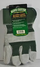 NWT WOMENS GLOVE CRAFTER LEATHER PALM GARDEN GLOVES MULTIPURPOSE USE COWHIDE