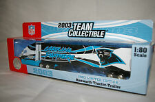 """2003 Carolina Panthers Die cast Truck Trailer Collectibles 9 1/2 x 2"""" Scale 1:80"""