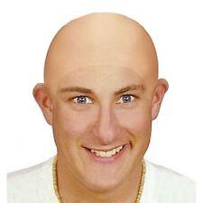 Adults Halloween Bald Head Uncle Fester Fancy Dress Costume Headpiece Wig