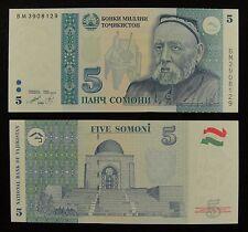 Tajikistan Paper Money 5 Somoni 1999 (2013) UNC