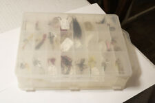 Collectors Lot of Vintage Metal Fishing Lures Some Identified In a Case