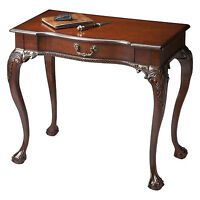 CHIPPENDALE STYLE WRITING DESK - CONSOLE TABLE - CHERRY FINISH - FREE SHIPPING*