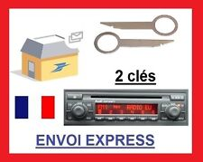 2 clefs extraction démontage façade autoradio audi concert 2 trous a3 a4 a6