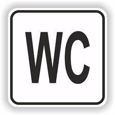 1x WC Restroom Sticker Sign Black & White Bathroom Toilet Door #07