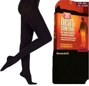 New Ladies Winter Warming Fleece Lined Thick Thermal Full Foot Tights M-L XL-XXL