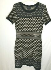 aff8794545f Romeo + Juliet Couture Black taupe Knit Stretch Short sleeve Sweater Dress
