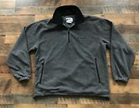 Champion Grey Half Zip Fleece Jacket Sweater Sweatshirt Men Size Large VTG 90s