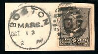 USAstamps Used VF US 1882 Garfield Scott 205 On a Piece