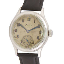 Vintage WW2 Minerva German Military Service Watch Rare Find.